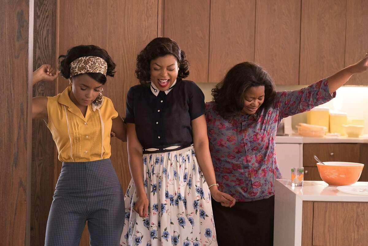 "Mary Jackson (Janelle Monae, left), Katherine Johnson (Taraji P. Henson) and Dorothy Vaughan (Octavia Spencer) in a scene from the movie ""Hidden Figures"" directed by Theodore Melfi. (Hopper Stone/20th Century Fox/TNS)"