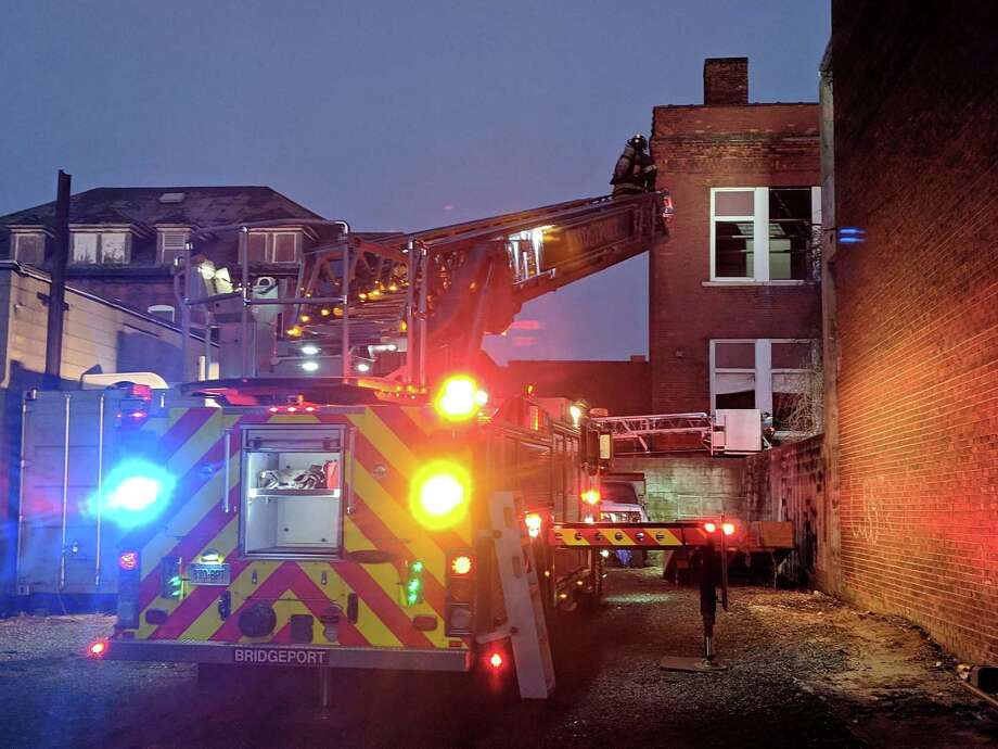 Around 5:30 p.m. on Friday, Feb. 8, 2019, fire units responded to an abandoned school on Steuben Street in Bridgeport, Conn., the old Waltersville School, said Deputy Chief Lance Edwards. Photo: Contributed Photo / Contributed Photo / Connecticut Post Contributed
