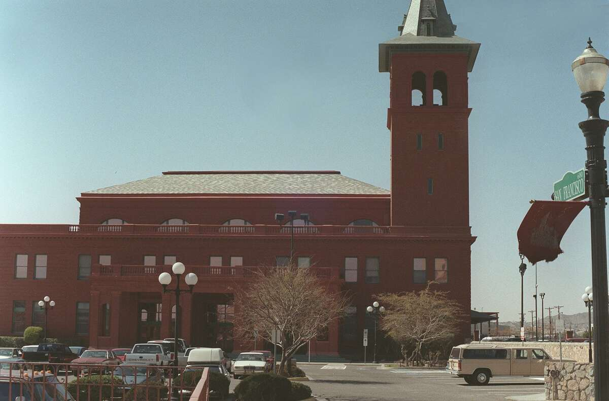 Travel Advance. Amtrak Texas. Amtrak's historic Union Station near downtown El Paso. The station is less busy now, but once was a major conduit for train passengers in the Southwest. Photo by Rod Davis, staff. Horizontal. Feb. 2002.