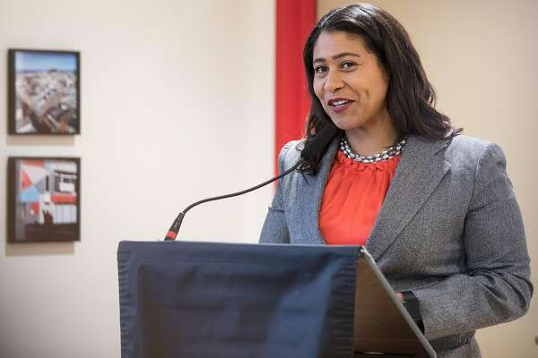 Mayor London Breed speaks during a grand opening ceremony for 990 Pacific Avenue, an affordable housing community in the Chinatown neighborhood of San Francisco, Calif. Thursday, Sept. 6, 2018.