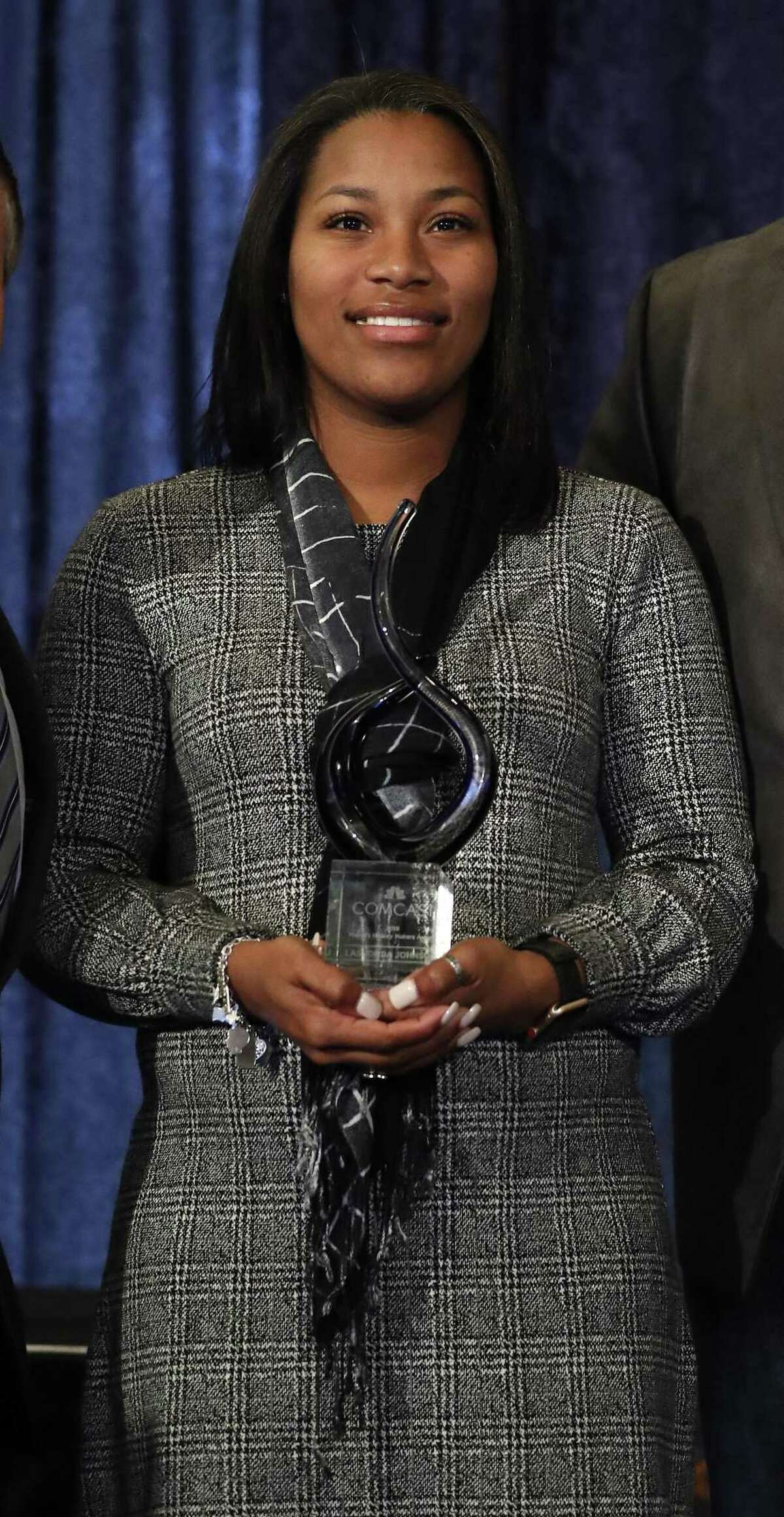 Honoree LaShonda Johnson during the Mayor Sylvester Turner's second annual History Makers Awards at the Houstonian Hotel, Friday, Feb. 8, 2019, in Houston.