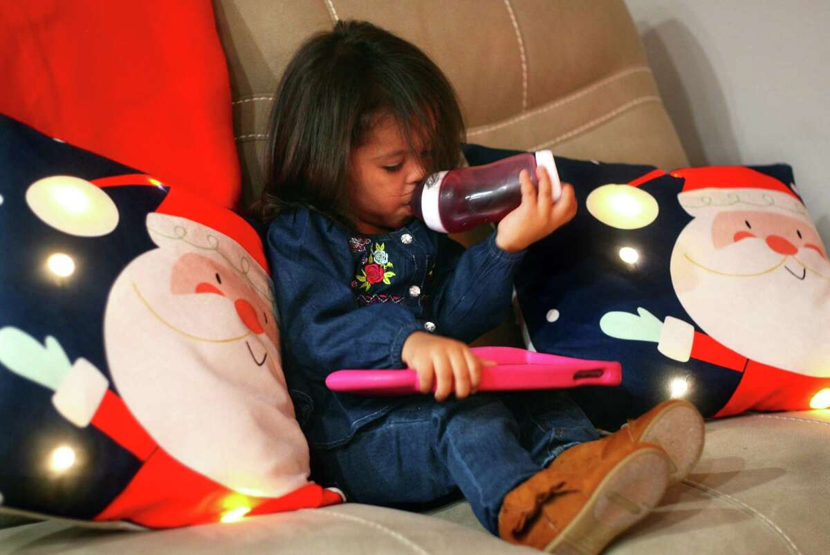 Two-year-old Rihanna Plaza was one of the first patients in the world to take Larotrectinib, a cancer drug made by Stamford-based Loxo Oncology and approved Nov. 26, 2018 by the FDA.