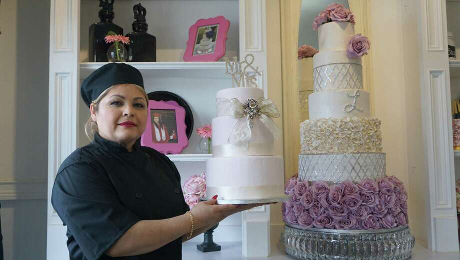 """One in Sugar Land, one in Pearland and one inside (Loop 610),"" said Letty Martinez, owner of Yummy Tummy Pastries, regarding her expansion plans. She said that FamilyTime continues to support her business and in return she donates cakes to the organization. Photo: Nguyen Le / Staff Photo"