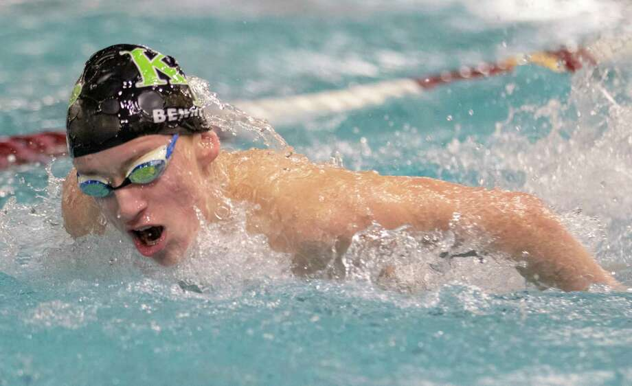 Kingwood Park freshman Carter Bennett competes during the boys 200 yard IM event during the Region VI-5A championships Saturday, Feb. 2, 2019 at the Michael D. Holland Aquatic Center in Magnolia. Photo: Cody Bahn, Houston Chronicle / Staff Photographer / © 2018 Houston Chronicle
