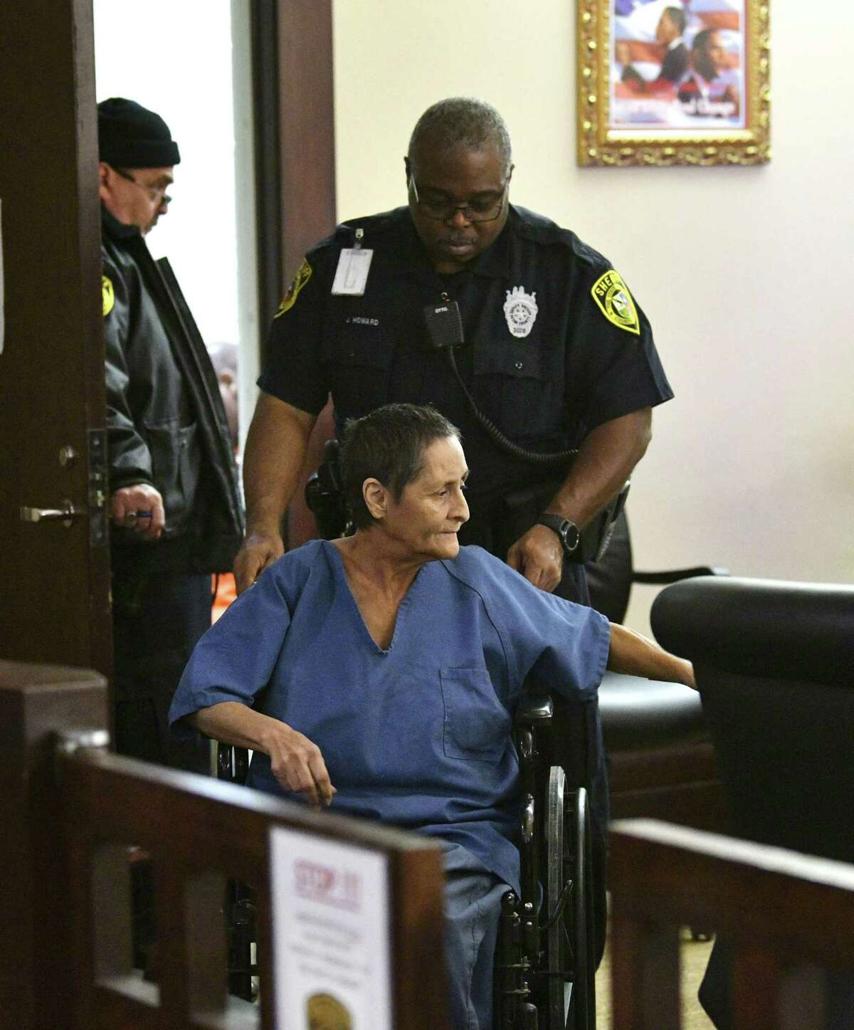 Beatrice Sampayo, 64, is accused of tampering with evidence related to the death of her 8-month-old grandson, King Jay Davila.