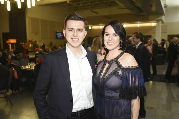 Artur and Kaylynn Tkacher at the American Heart Association's Heart Ball at the Event Centre on Friday night. Photo taken on Friday, 02/08/19. Ryan Welch/The Enterprise