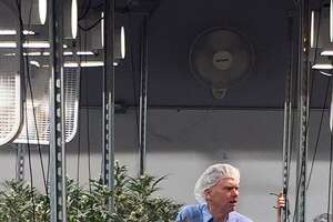Hearst Connecticut Media Group Columnist Ken Dixon, in a file photo, during a tour of Advanced Grow Labs in West Haven, one of the state's four medical-marijuana producers.