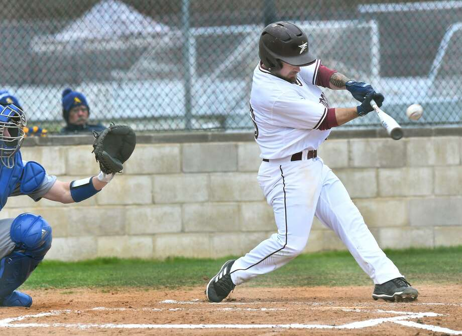 Andrew Holsey drove in TAMIU's only run Saturday and had the team's only walk in an 11-1 loss againt Angelo State at Jorge Haynes Field. Photo: Cuate Santos /Laredo Morning Times File / Laredo Morning Times