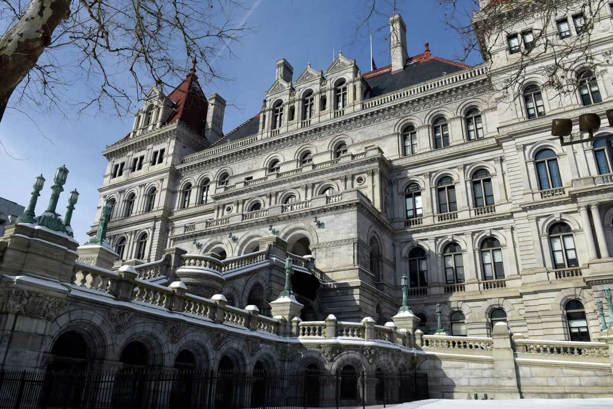 Exterior of the New York State Capitol on Friday, Feb. 1, 2019, in Albany, N.Y. (Will Waldron/Times Union)