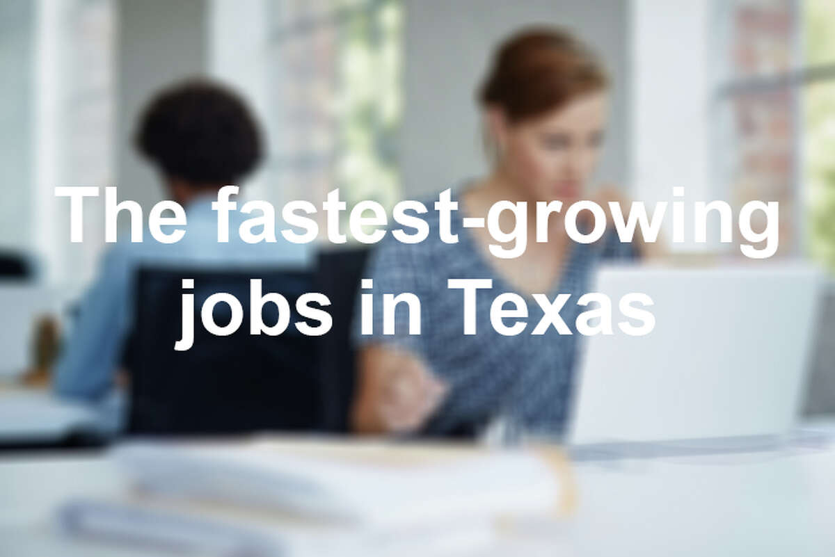 These are the fastest growing jobs in Texas and their projected growth from 2016 to 2026, according to the government-funded Projections Managing Partnership that uses data from the Bureau of Labor Statistics.