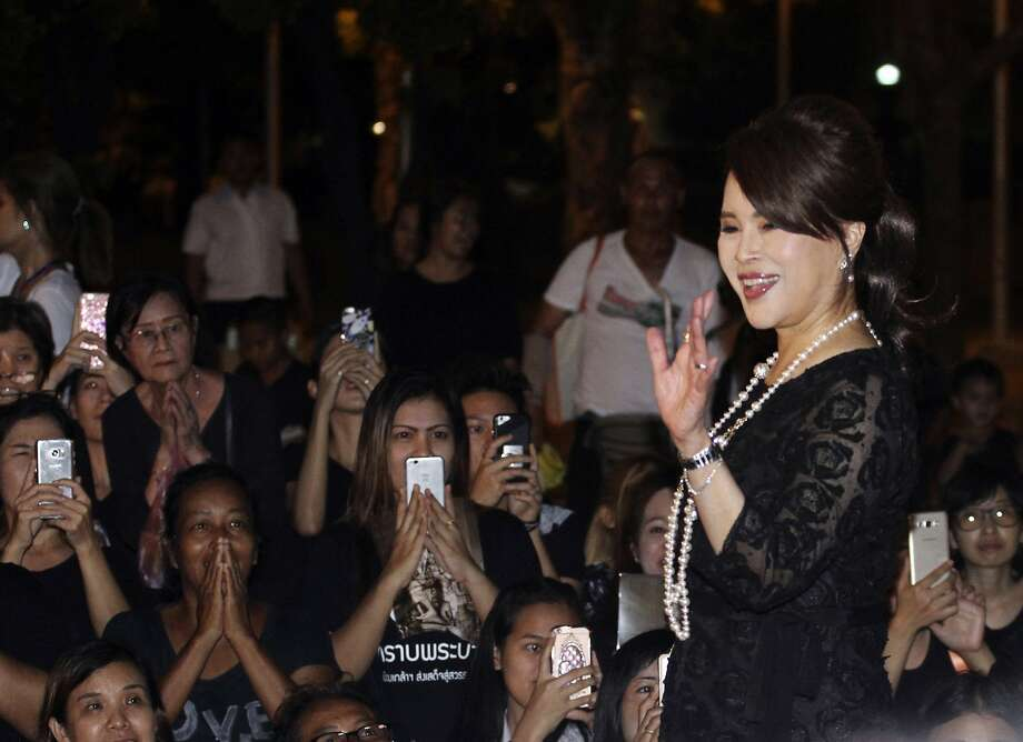 Princess Ubolratana Mahidol greets Thais in Bangkok in 2017. She sought to enter the race for prime minister Friday, but her brother, King Maha Vajiralongkorn, invalidated her bid. Photo: Associated Press 2017