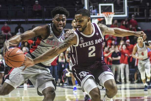 Texas A&M sophomore guard TJ Starks, right, had been plagued this season by inconsistent play on the court, and the Aggies have struggled partly because of this.