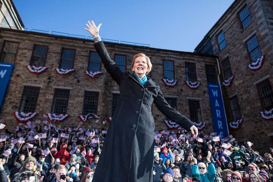 LAWRENCE, MA - FEBRUARY 09:  LAWRENCE, MA � FEBRUARY 9: Sen. Elizabeth Warren (D-MA), announces her official bid for President onFebruary9, 2019 in Lawrence, Massachusetts. Warren announced today that she was launching her 2020 presidential campaign. (Photo by Scott Eisen/Getty Images) Photo: Scott Eisen / Getty Images