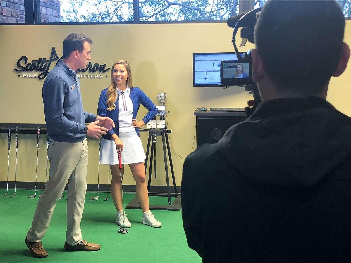 """San Francisco resident Kira Kazantsev was in Scottsdale, Ariz., last month to tape her new Golf Channel show, """"Golf Advisor Living."""""""