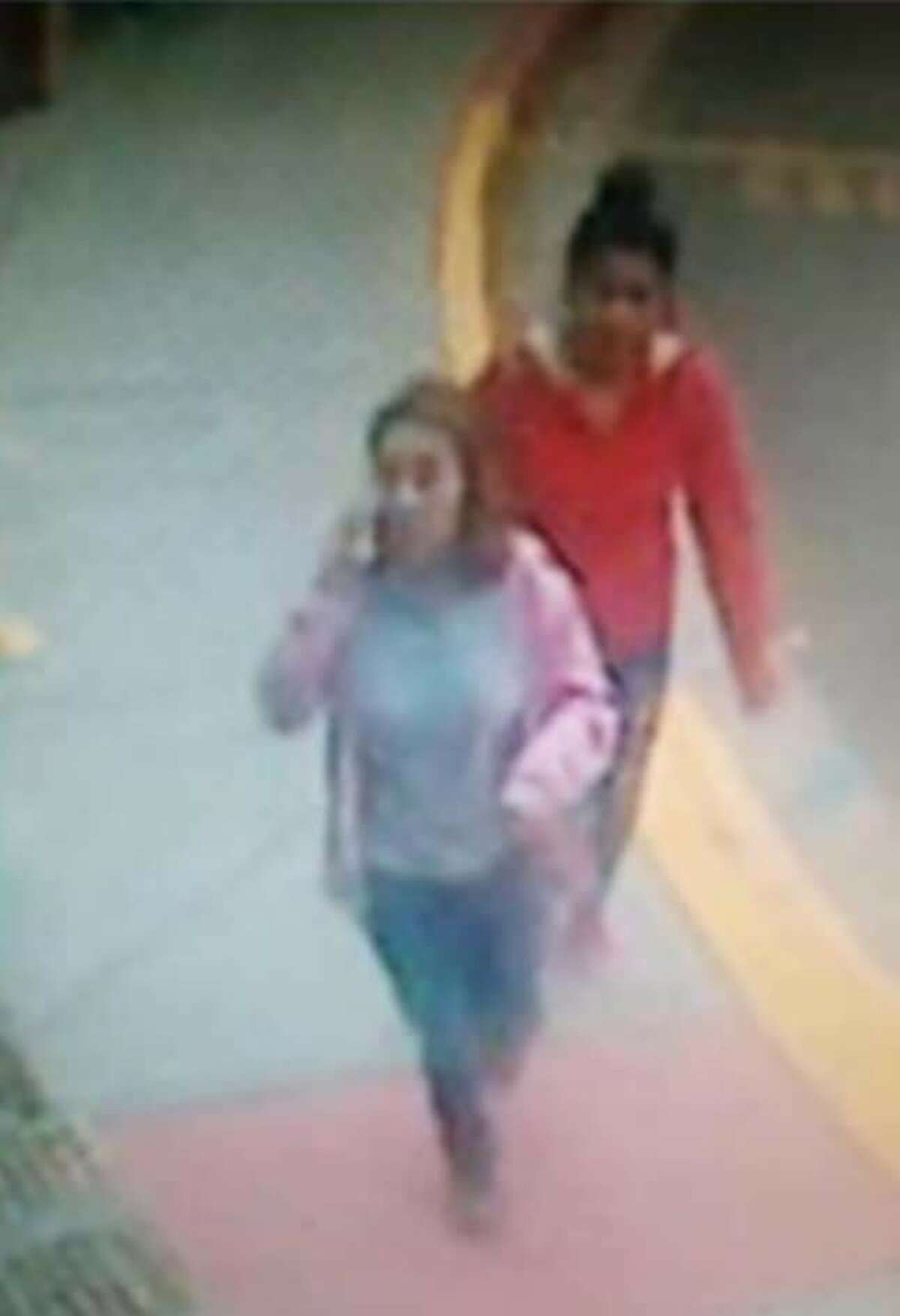 Katherine Mena was last seen with two females, who are pictured in this surveillance video image released by Laredo PD.
