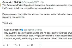 Greenwich police have responded to concerns about Eugenia Cooper