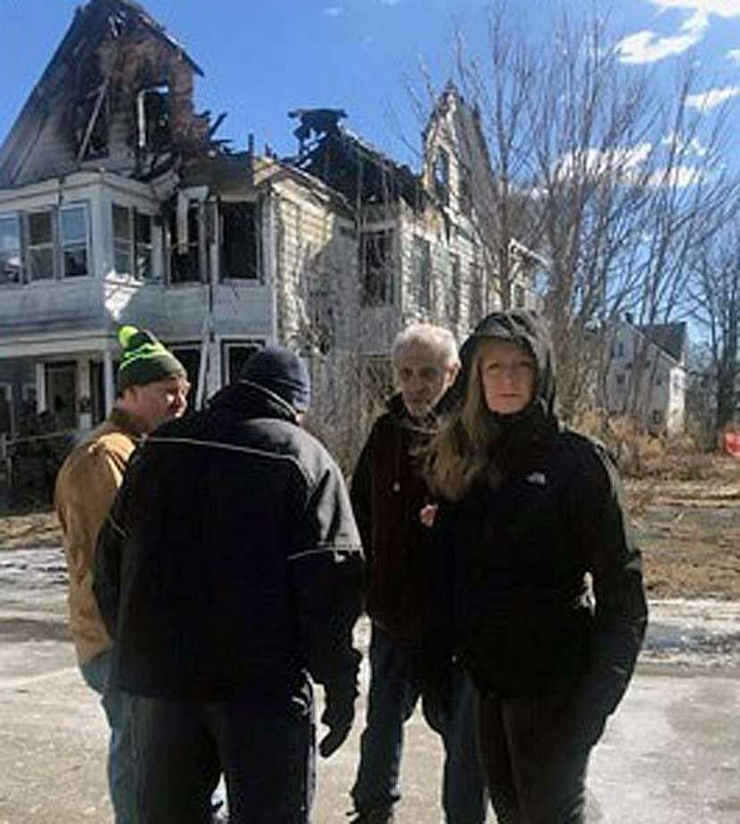 Friday night, Feb. 8, 2019, there was a major two-alarm structure fire at 22 Richards Place in West Haven, Conn., owned by the Haven Group LLC, according to the news release from the mayor's office. The fire was reported around 10:30 p.m. and was under control about an hour and 15 minutes later. Photo: Contributed Photo / Contributed Photo / Connecticut Post Contributed