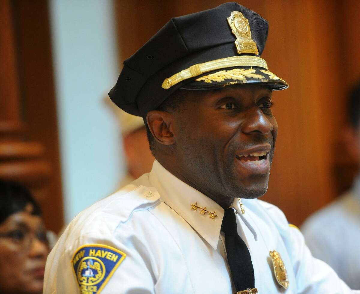 New Haven Police Chief Anthony Campbell left the department in March 2019.