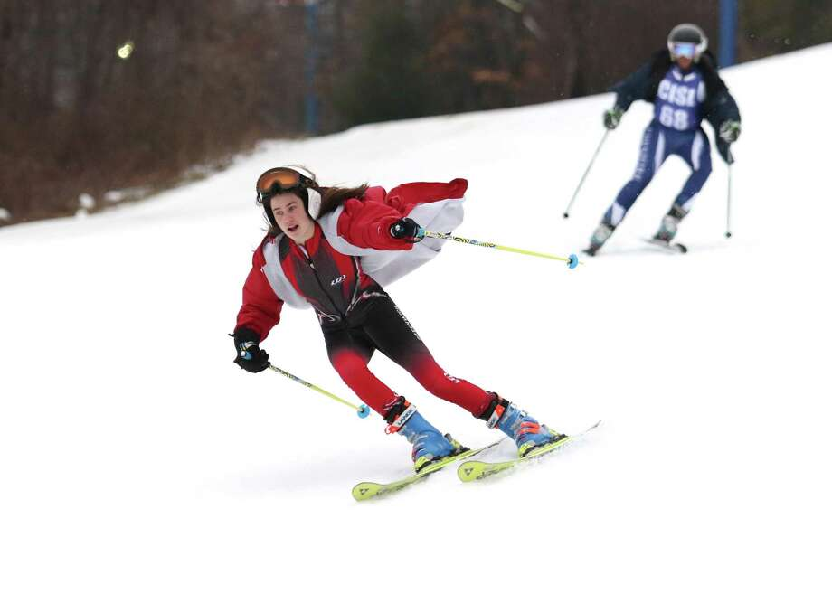 The Greenwich High School boys and girls skiing teams have each made their mark in their respective races so far this season. Photo: David Fierro / Hearst Connecticut Media