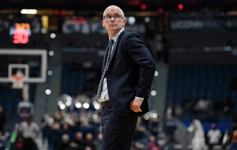 UConn coach Dan Hurley during the second half of a game on Dec. 5, 2018, in Hartford. Photo: Jessica Hill / Associated Press / Copyright 2018 The Associated Press. All rights reserved