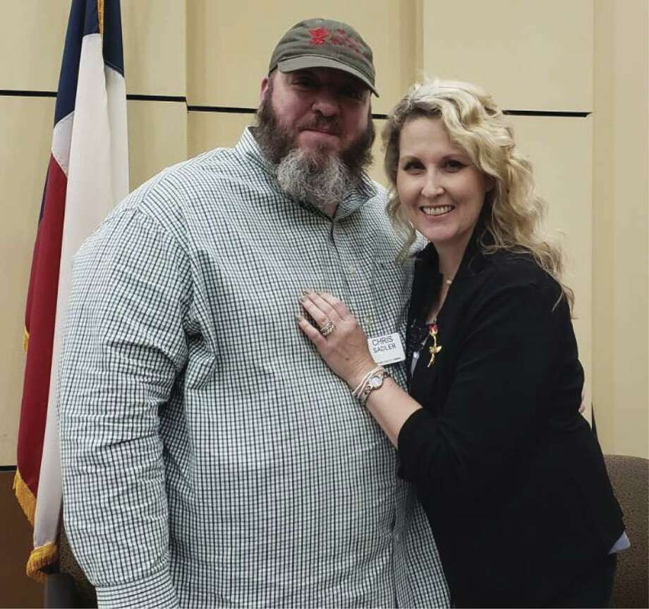 "Conroe Rotary President Nominee Chris Sadler is pictured with his lovely wife Mandi at the recent RCC ""Not So Newlywed Game"" pre-Valentine's Day Luncheon. Chris and Mandi were winners of the game this year."