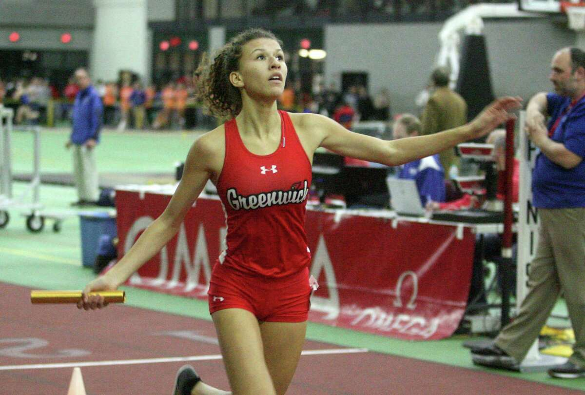 Greenwich's Zoe Harris will compete in the 38th annual Yale Interscholastic Track Classic at Coxe Cage this weekend.