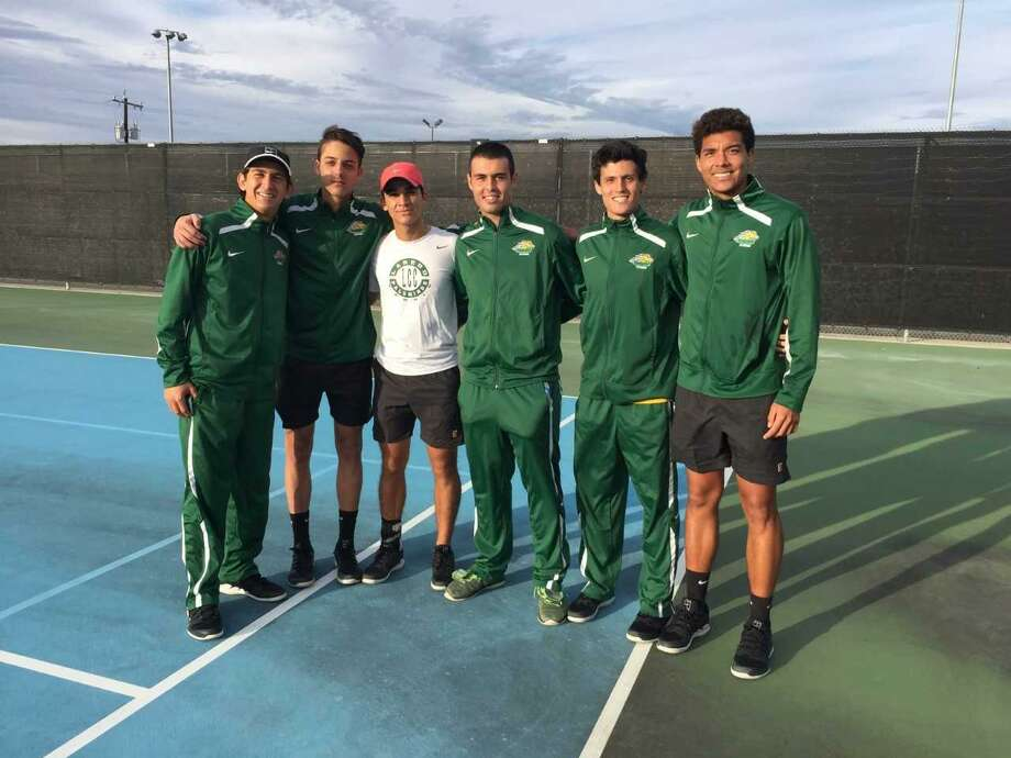 The Palominos men's tennis team won their first team dual match of the season over St. Mary's University Thursday. Photo: Courtesy Of Laredo College Athletics