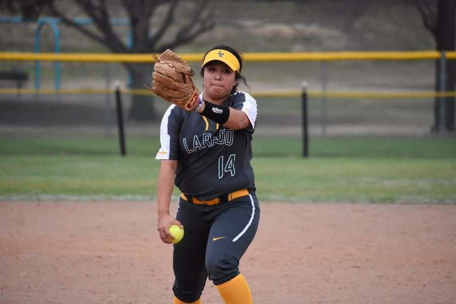 Laredo College pitcher Deja Tapia threw a no-hitter Saturday in a 22-0 win over the University of Texas-San Antonio club team. Photo: Courtesy Of Nicole Marie Photography