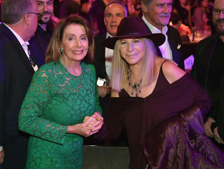 Nancy Pelosi and Barbra Streisand at the Pre-GRAMMY Gala and GRAMMY Salute to Industry Icons Honoring Clarence Avant at The Beverly Hilton Hotel on February 9, 2019 in Beverly Hills, California.  (Photo by Neilson Barnard/Getty Images for The Recording Academy) Photo: Neilson Barnard, Getty Images For The Recording Academy