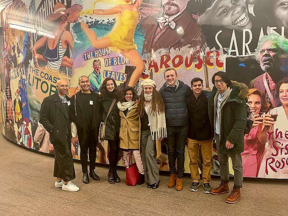During the inaugural New York City Career Trek, hosted by Wesleyan's Gordon Career Center, several students visited the Lincoln Center Theater to meet with alumni active in the theater industry. Photo: Contributed Photo