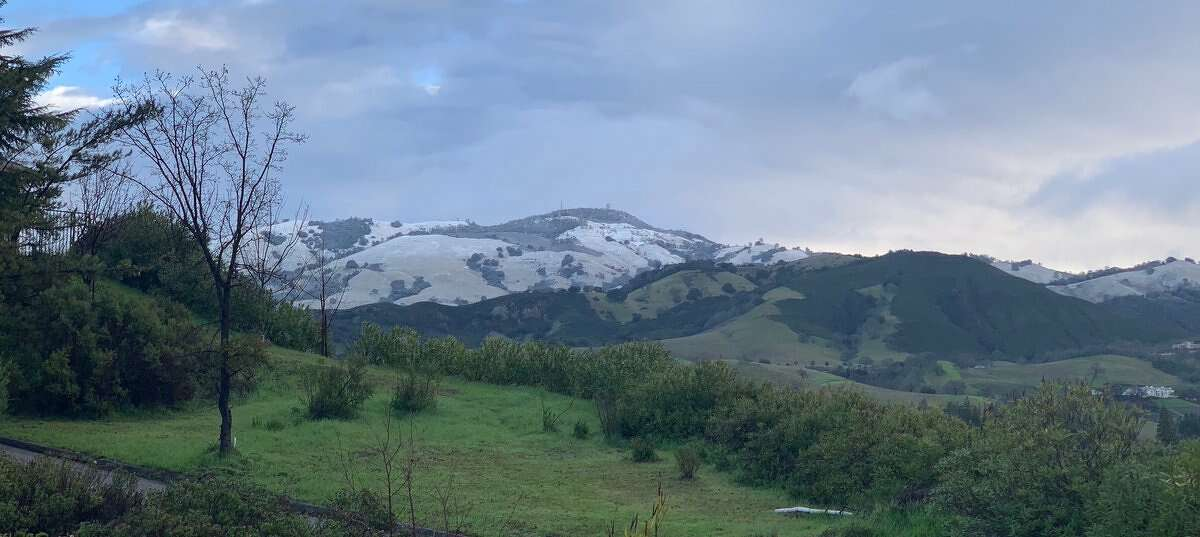 It snowed overnight on Mount Diablo, and Bay Area residents woke up on Feb. 10, 2019 to snow-dusted peaks.