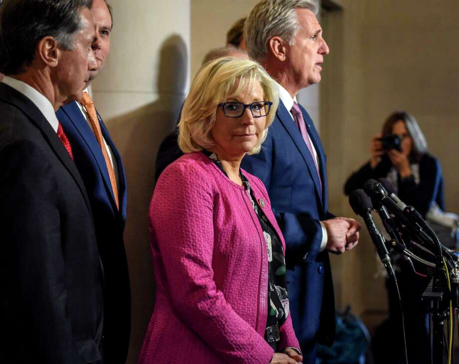 Rep. Liz Cheney, R-Wyo., during a press conference by the House Republican leadership team on Nov. 14, 2018, in Washington, D.C. Photo: Washington Post Photo By Bill O'Leary / The Washington Post