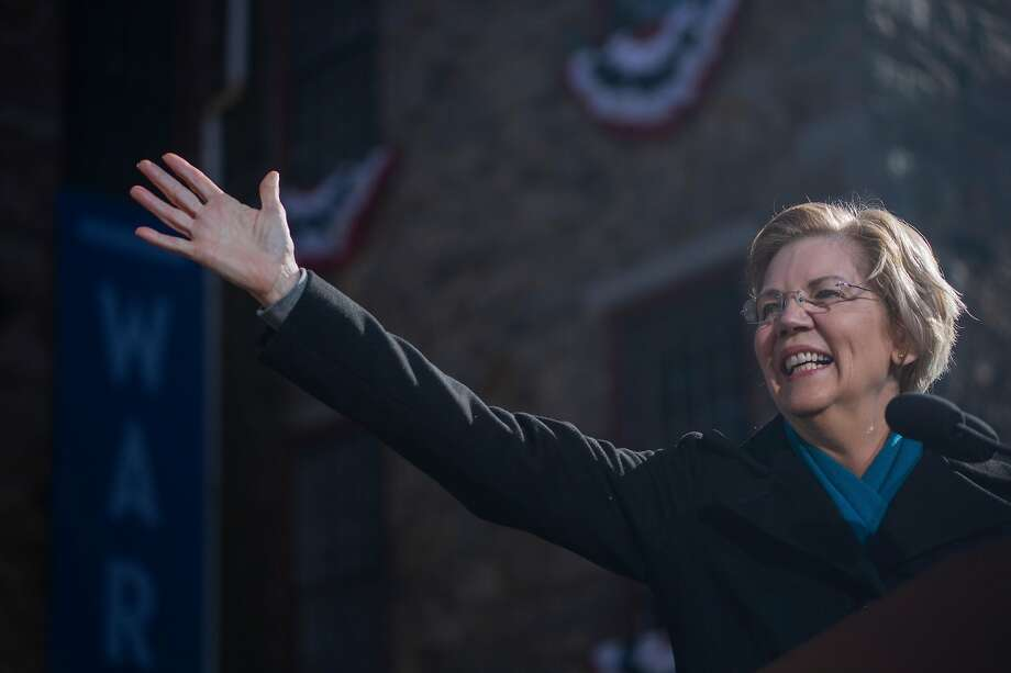"Sen. Elizabeth Warren (D-Mass.) kicked off her 2020 presidential bid at the Everett Mill in Lawrence, Mass., Feb. 9, 2019. Warren formally announced that she was running for president here at the site of one of the most famous labor strikes in American history, one started by women. ""Like the woman of Lawrence, we are here to say 'enough is enough!'"" she said. (John Tully/The New York Times) Photo: John Tully, NYT"