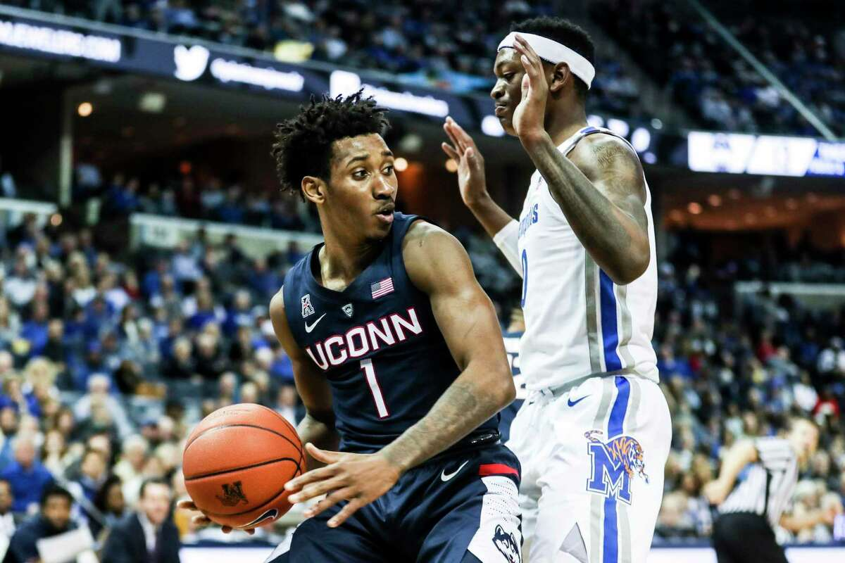 UConn's Christian Vital was named All-Second Team at the American Athletic Conference Media Day.