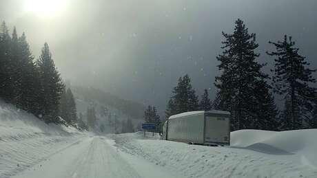 I-80 snow. Photo: Caltrans District 3