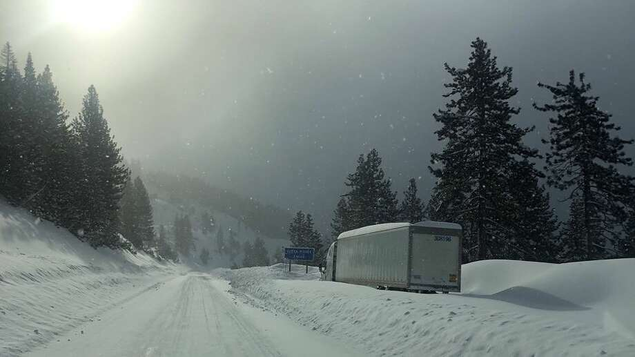I-80 snow. Photo: Caltrans District 3