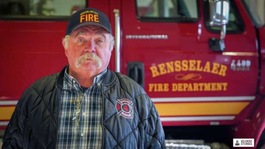 "Ernie Mann, a retired teacher and volunteer firefighter, was the first Rensselaer resident highlighted in the city's new weekly web series ""10,000 Stories"" on Sun., Feb. 3, 2019. Photo: Courtesy Of City Of Rensselaer"