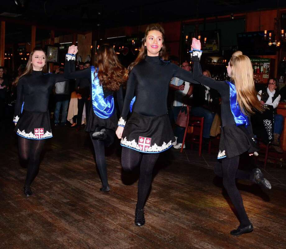 Ashurst Academy Irish Dancers perform during Molly Darcy's 25th annual St. Patrick's Day Parade Fundraiser on Sunday February 10, 2019. Photo: Lisa Weir / For Hearst Connecticut Media / The News-Times Freelance