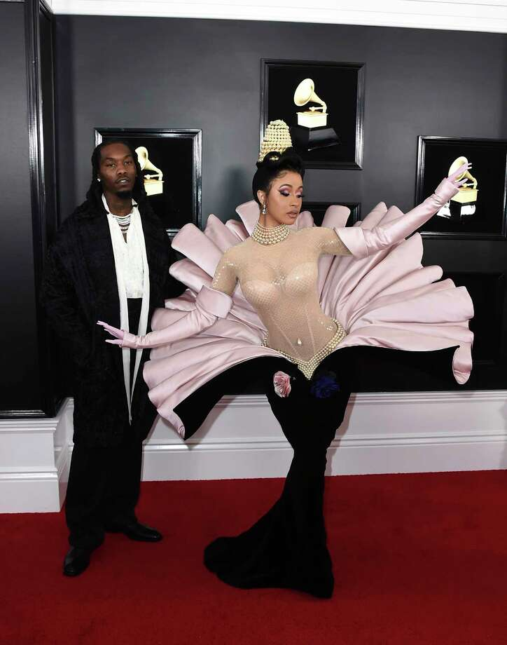 Cardi B channels Lady Gaga in vintage Mugler couture. Photo: Jordan Strauss, Associated Press / 2019 Invision