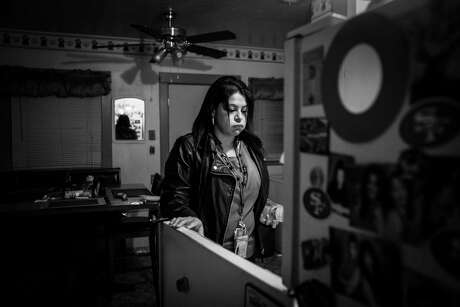 Vicki Ibarra looks into her refrigerator as she searches for something to take to work for lunch on Monday, Feb. 4, 2019, in Fresno, California. Photo: Washington Post Photo By Jabin Botsford. / The Washington Post