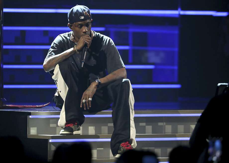 Travis Scott fans in Tulsa, Oklahoma, set to attend the Houston-born rapper's sold out performance at BOK Center concert venue on Monday, were not thrilled when the concert was abruptly postponed.  >>> Click through to see more on the canceled show. Photo: Matt Sayles, Associated Press