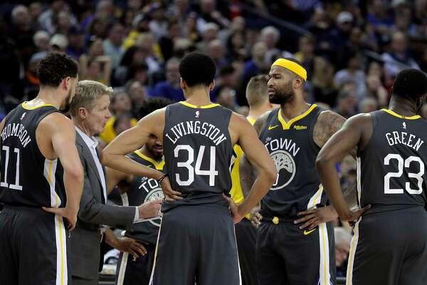 e4ccb0364 1of6DeMarcus Cousins (0) in the huddle with head coach Steve Kerr during a  timeout in the second half as the Golden State Warriors played the Miami  Heat at ...