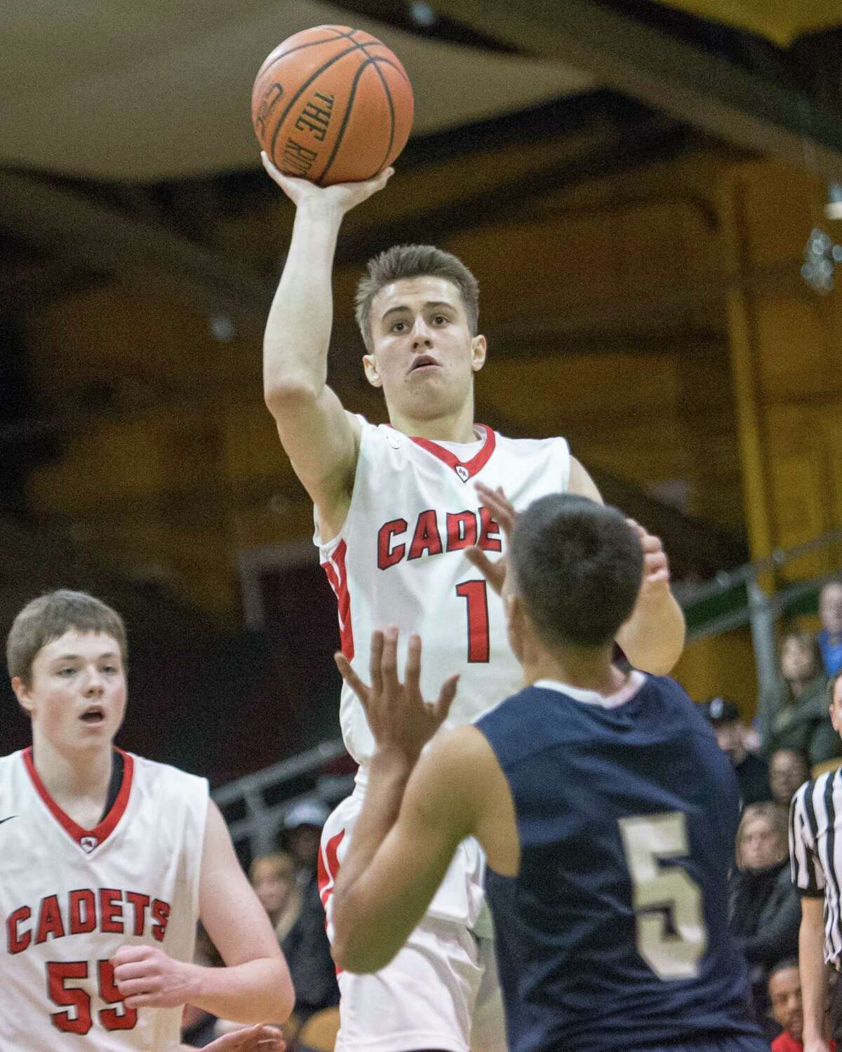 Boys' large school basketball: August Mahoney of Albany Academy. Read the story.