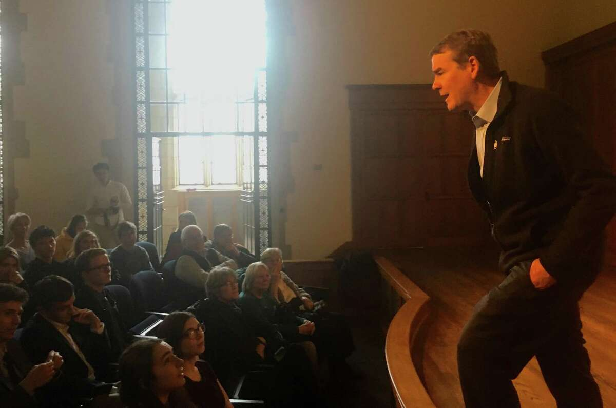 U.S. Sen. Michael Bennet, D-Colo., held a town meeting-style Q&A at Yale on Sunday as a guest of the local chapter of Every Vote Counts. Bennet, who graduated from Yale Law School in 1993, is considering running for president.