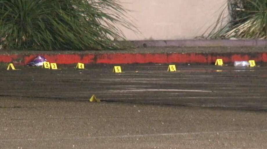 A man was taken to a hospital in unknown condition after a shooting Monday morning outside a night club in north Houston. Photo: Metro Video