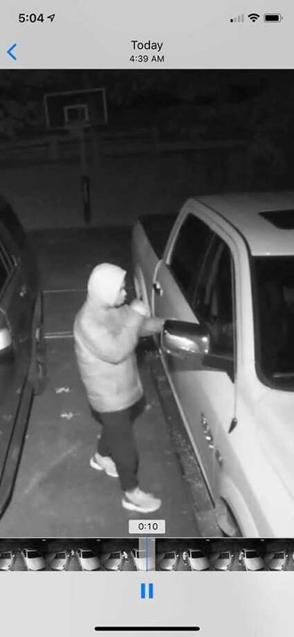 North Haven police are seeking help in identifying a man seen breaking into cars Monday morning. Photo: North Haven Police Department