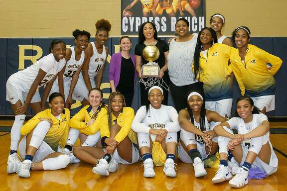 The Cypress Ranch girls basketball team finished first in District 14-6A with a district record of 15-1.