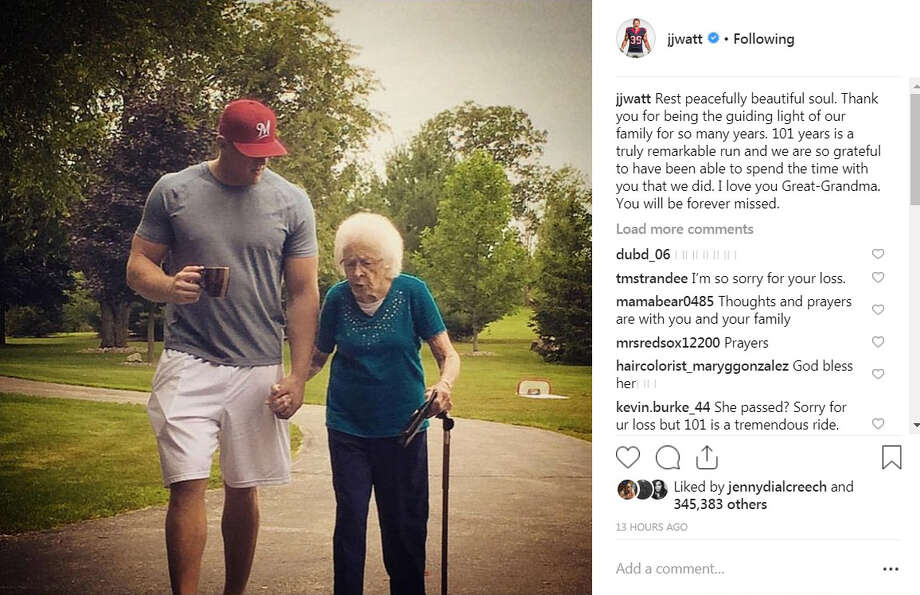 PHOTOS: Other times J.J. Watt has posted on social media about his great grandmother