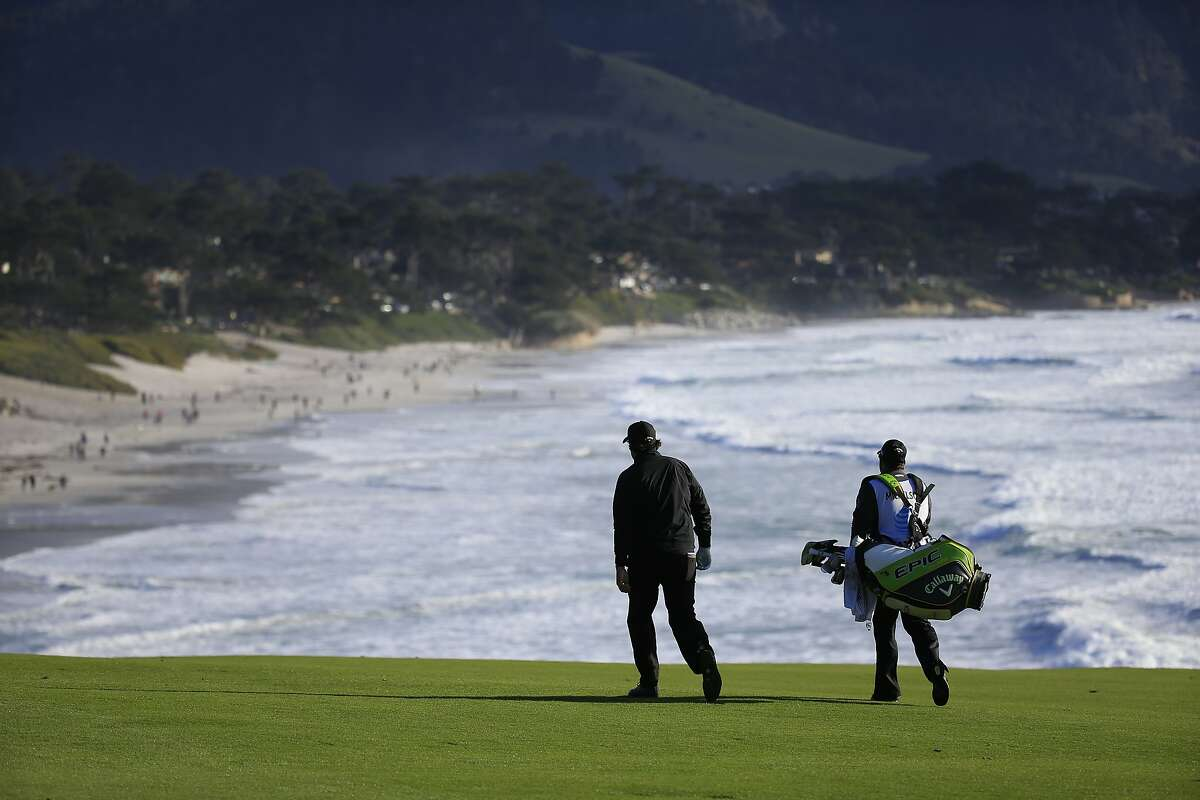 PEBBLE BEACH, CALIFORNIA - FEBRUARY 10: Phil Mickelson of the United States walks on the ninth hole during the final round of the AT&T Pebble Beach Pro-Am at Pebble Beach Golf Links on February 10, 2019 in Pebble Beach, California. (Photo by Chris Trotman/Getty Images)