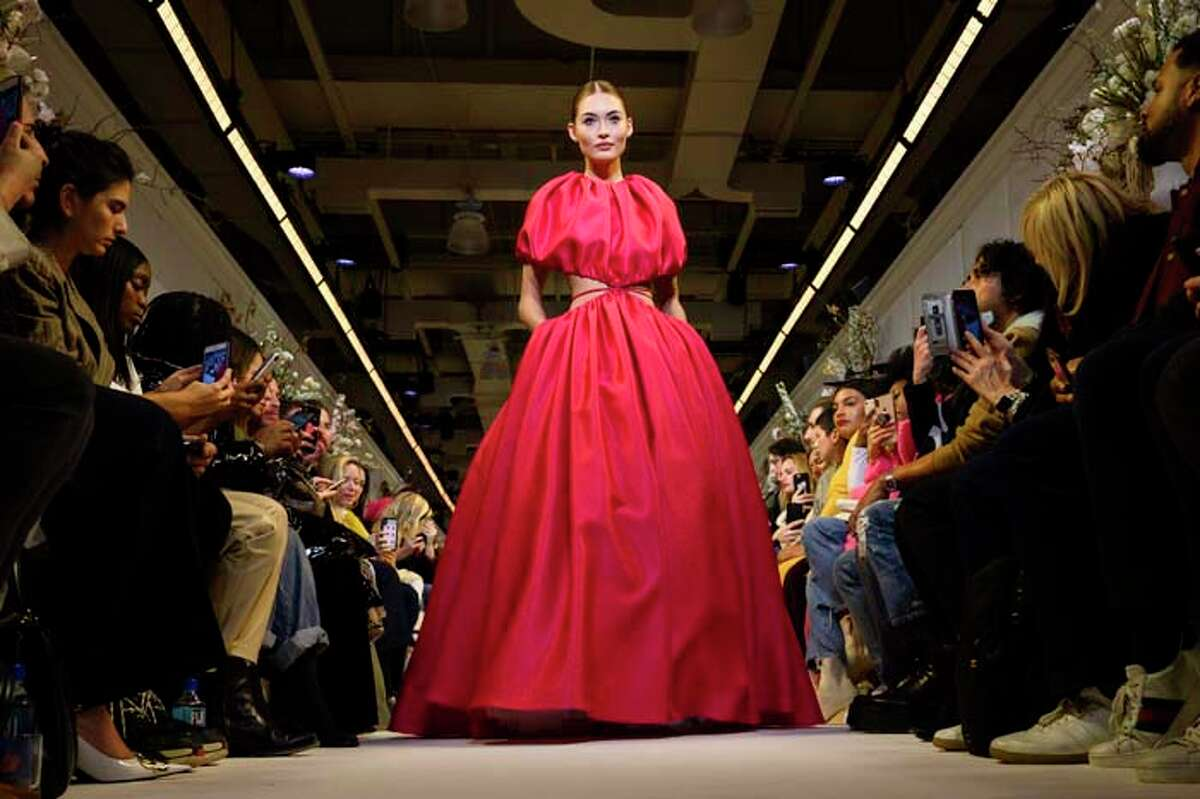 NEW YORK, NEW YORK - FEBRUARY 09: Model Grace Elizabeth walks the runway at the Brandon Maxwell fashion show during New York Fashion Week on February 09, 2019 in New York City. (Photo by Peter White/FilmMagic,)
